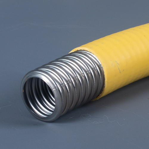 GFS CSST   Corrugated Stainless Steel Tubing with a Yellow PVC Jacket